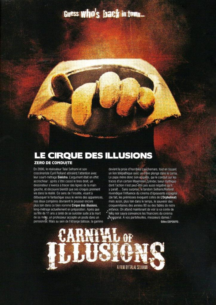 Article de Mad Movies sur Le cirque des illusions